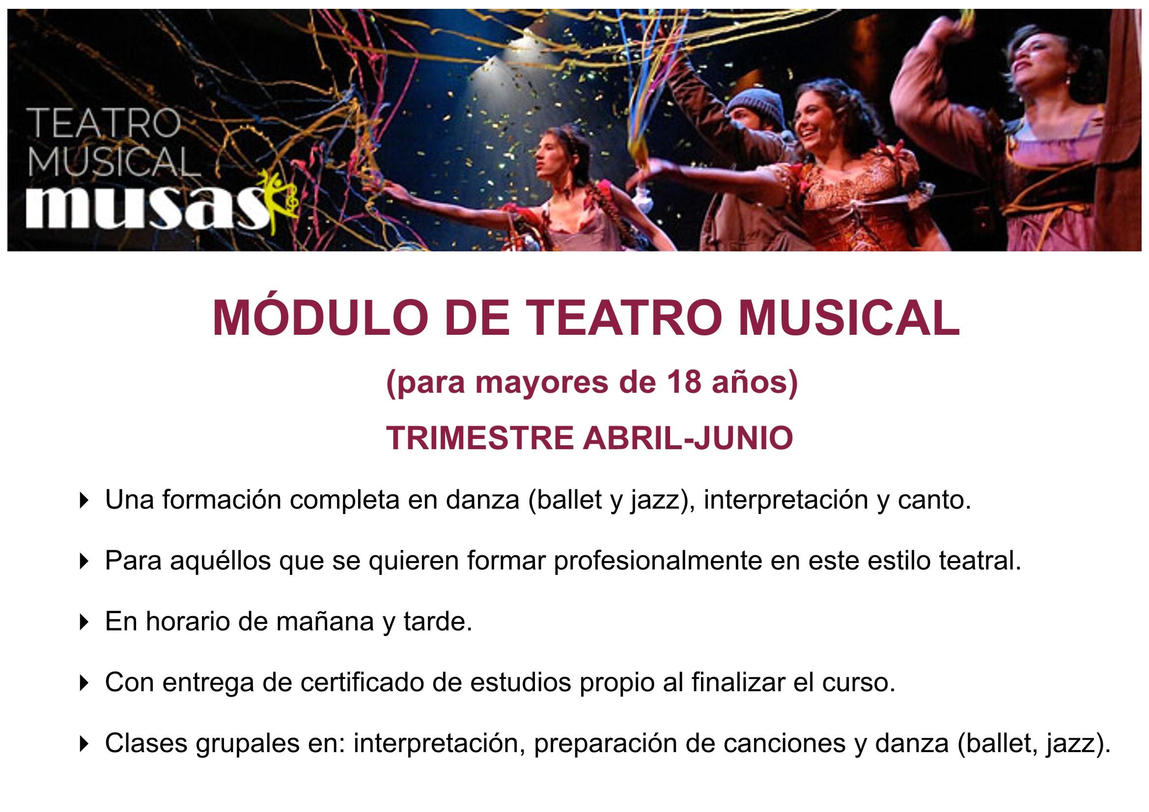 cartel modulo teatro musical