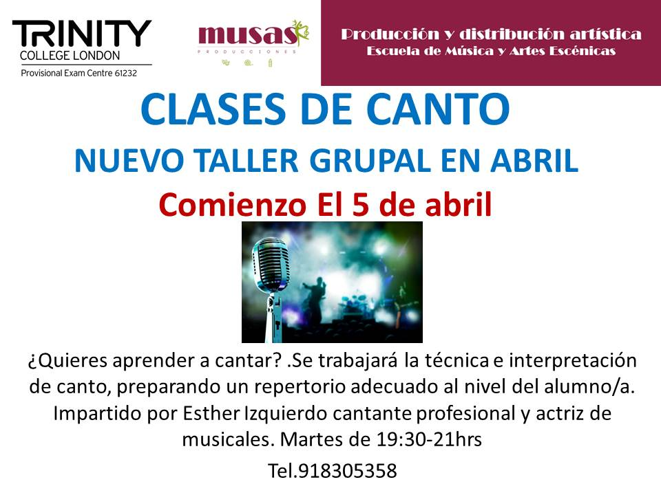 clases canto grupal