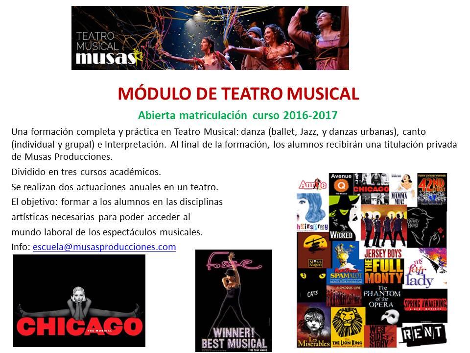 modulo teatro musical